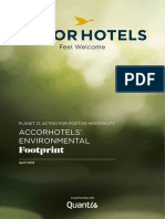 AccorHotels Environmental Foot Print 2016