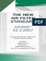 Air Filter Standard ASHRAE 52.2-2007