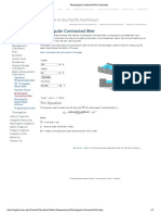 Rectangular Contracted Weir Calculator