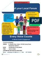 Poster for MHE Forum St James