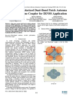 A Circularly Polarized Dual-Band Patch Antenna With Branch-line Coupler for IRNSS Application