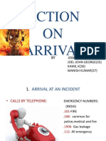 ACTION on Arrival Ppt-