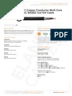 Bs 5467 Copper Conductor Multi Core Swa Pvc Basec 0 6 1 Kv Cable