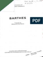 Mito Em Roland Barthes