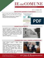 Notizie Dal Comune di Borgomanero del 21 Giugno 2018