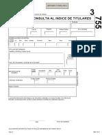 Consulta Al Indice de Titulares