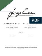 Enescu - Piano Quartet No. 2, Op. 30 (Score)