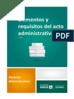 Elementos y Requisitos Del Acto Administrativo