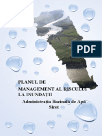 Aba Siret Plan Management Riscul La Inundabilitate