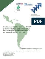 Dt 3 Continuidad de Operaciones (COOP) y Continuidad de Gobierno (COG)