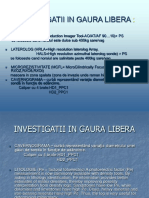 investigatii geofizice in gaura libera