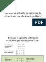 Gauss jordan