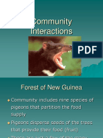 Lecture Community Interactions