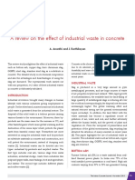 A Review on the Effect of Industrial Waste in Concrete