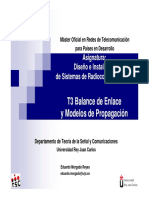 Tema 3 Balance de Enlace y Modelos de Propagacion