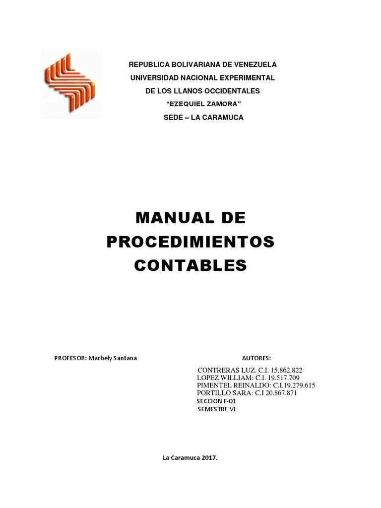 Fantástico Plantilla Del Manual De Contabilidad Ideas - Ejemplo De ...