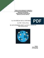 La Sociedad de La Información. Las Tic y El Aula Virtual, By MSc Belkys Patiño