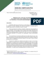 Respuesta de la OPS para mantener una agenda eficaz de cooperación técnica en Venezuela y en los Estados miembros vecinos