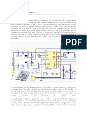 DTMF Decoder Using MT8870