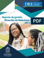 Informe Gestion DRE