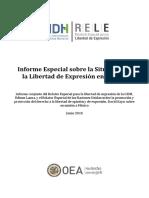 RELE CIDH Informe Libertad Expresión México