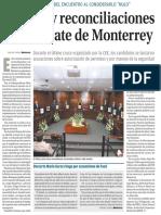 17-06-18 Críticas y reconciliaciones  en el debate de Monterrey