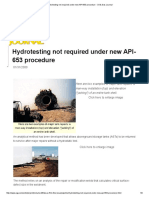Hydrotesting Not Required Under New API-653 Procedure - Oil & Gas Journal