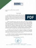 OSCE Letter on Observer Mission