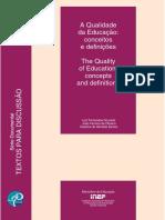 A Qualidade Da Educação Conceitos e Definições