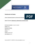Planificación de Gestión y Organización Institucional.2018