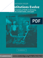 (Cambridge Studies in Comparative Politics) Kathleen Thelen-How Institutions Evolve_ the Political Economy of Skills in Germany, Britain, The United States, And Japan-Cambridge University Press (2004)