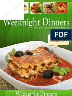 Weeknight Dinner Recipes Cookbook 091608