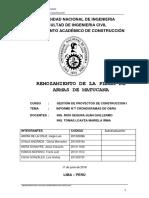 INFORME N°7 CRONOGRAMA DE OBRA