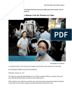 Apple' iPad and the Human Costs for Workers in China - NYT Jan 26, 2012
