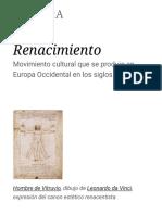 Renacimiento - Wikipedia, La Enciclopedia Libre