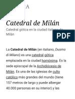 Catedral de Milán - Wikipedia, La Enciclopedia Libre