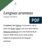 Lenguas Arameas - Wikipedia, La Enciclopedia Libre