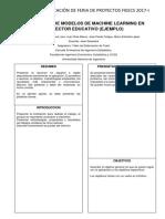 Formato de Presentación de La Aplicación. 2017-I
