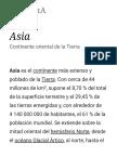 Asia - Wikipedia, La Enciclopedia Libre