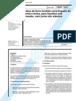 PDF - ABNT - NBR 7661  - Tubos de ferro fundido centrifugado de ponta e bolsa - 1985.pdf