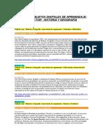 Catálogo ODEA Historia de 7º a 4º Año Medio