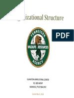 TWRA Organizational Structure Chart