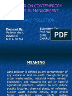 Land Pollution Vaibhav