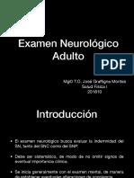 Examen Neurologico Adulto SF I UNAB 2018