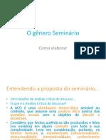 O Gênero Seminário - Comunicação e Expressão