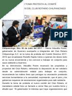 05-07-2017 Héctor Astudillo Toma Protesta Al Comité Directivo 2017-2018 Del Club Rotario Chilpancingo a.C.