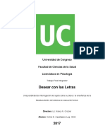 Desear Con Las Letras Tesis Psicoanalisis, Literatura y Educacion