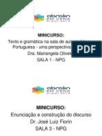 SINALIZAÇÃO MINICURSO