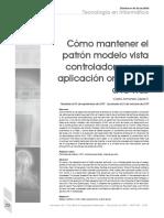 Como Mantener MVC en una aplicacion.pdf