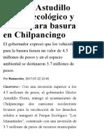 22-07-2017 Entrega Astudillo Parque Ecológico y Carros Para Basura en Chilpancingo.